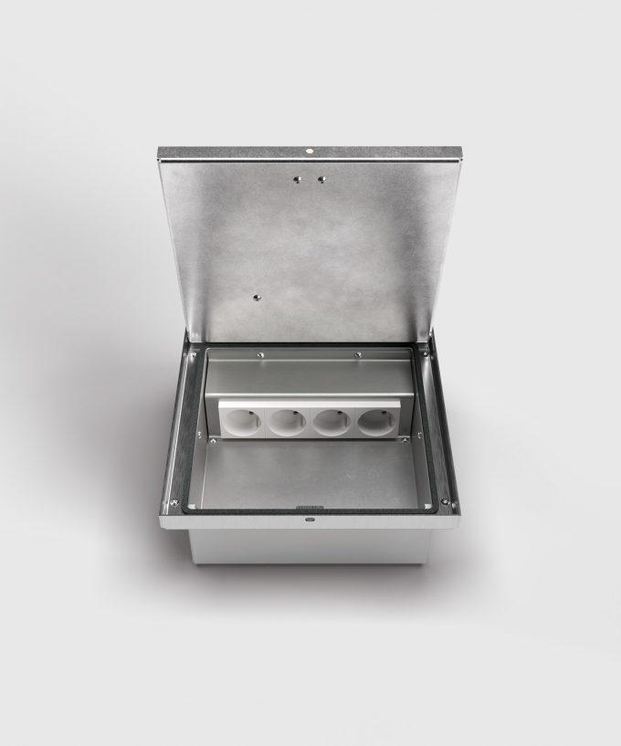 floor box 2004B lid open