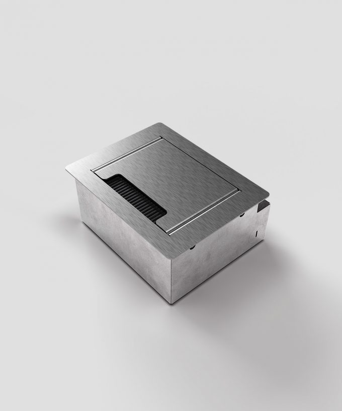 floor socket desk socket 3202E lid closed with brush outlet not built in view lateral