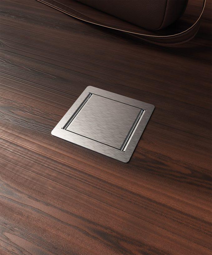 floor socket 3301E built in wooden floor lid closed one slot