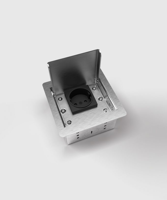 floor socket 3301E lid open one slot view from above