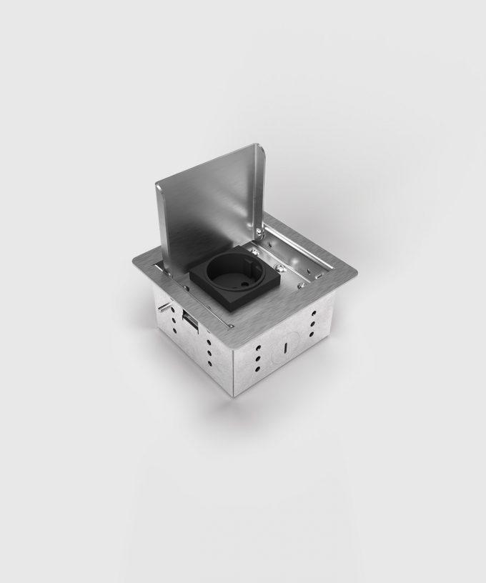 floor socket 3301E lid open one slot
