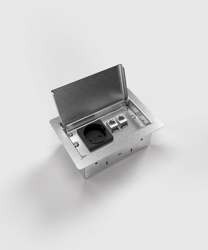 floor socket 3302E lid open