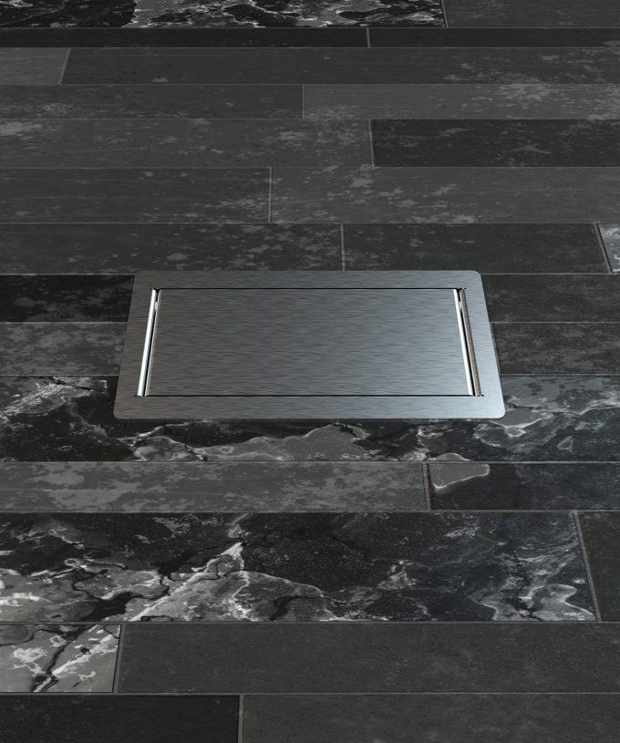 floor socket 3303E built in tile floor lid closed view frontal