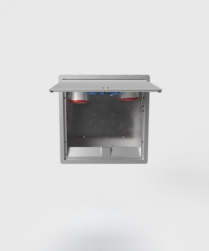 wall distributor 5523A lid door open