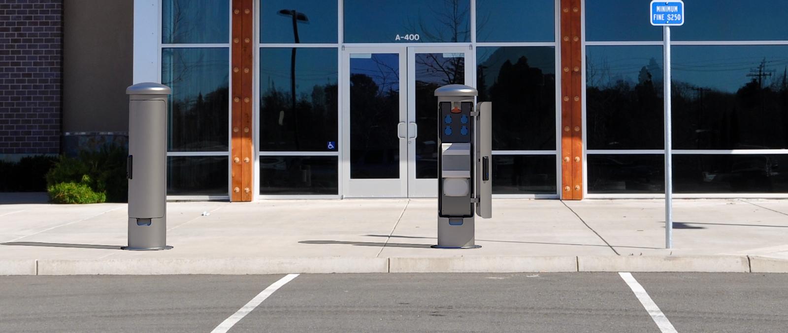 ESP14-socket pillar power distribution column At the parking lot-1600×678